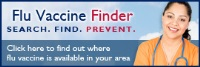 flu vaccine finder logo